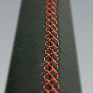Leather steering grip