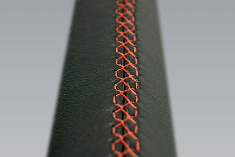 Leather steering grip